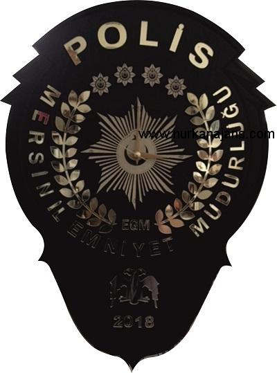 Emniyet Logolu Duvar Saati